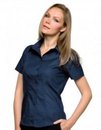 OX9: Oxford Short Sleeve Blouse