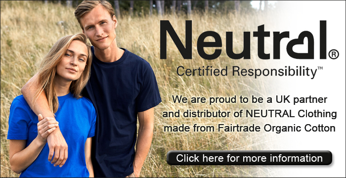 We are the UK distributor for NEUTRAL Clothing. Certified Responsibility - Fairtrade Organic Cotton Clothing