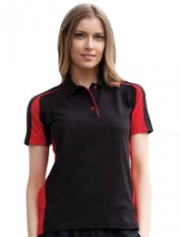 LV39: Ladies Contrast Polo Shirt