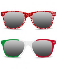PFS11: Allover Frame Print Sunglasses