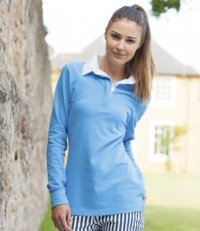 LR2: Ladies Long Sleeve Rugby Shirt