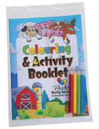 CB57: A5 Colouring Book & Pencils