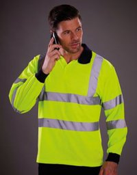 HPL1: Hi-Viz Long Sleeve Polo Shirt