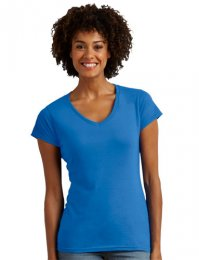 TS78: Ladies Softstyle Vee Tee