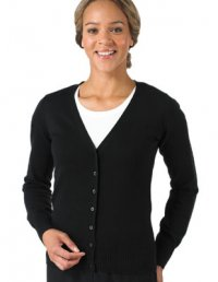 VK71: Ladies V-neck Knitted Cardigan
