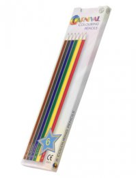 P0256: Full Length Colouring Pencils (6pk)