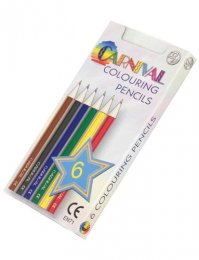 P0254: Half Length Colouring Pencils (6pk)