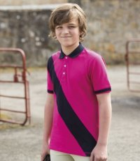 PS218: Kids' Diagonal Stripe Polo