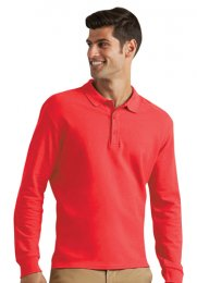 GS44: Midweight Long Sleeve Polo Shirt